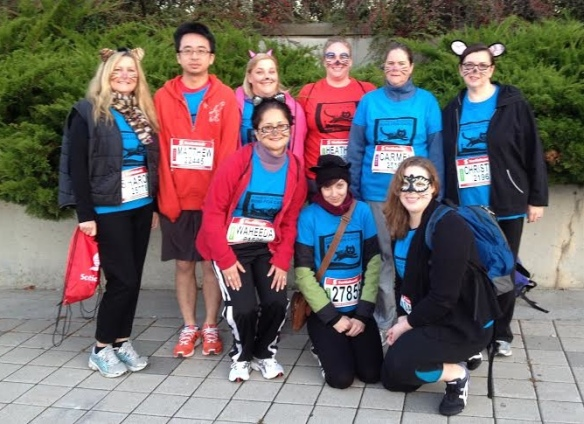TCR's 5K Team. Not pictured are our marathon and half-marathon runners!